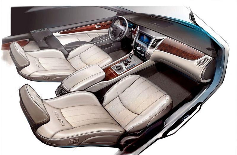 New Hyundai Equus drawing