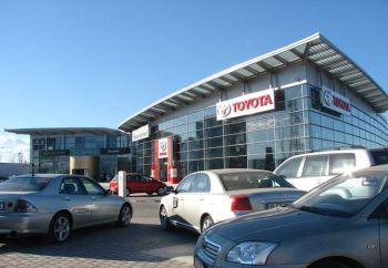 Toyota closed two showrooms in Bucharest