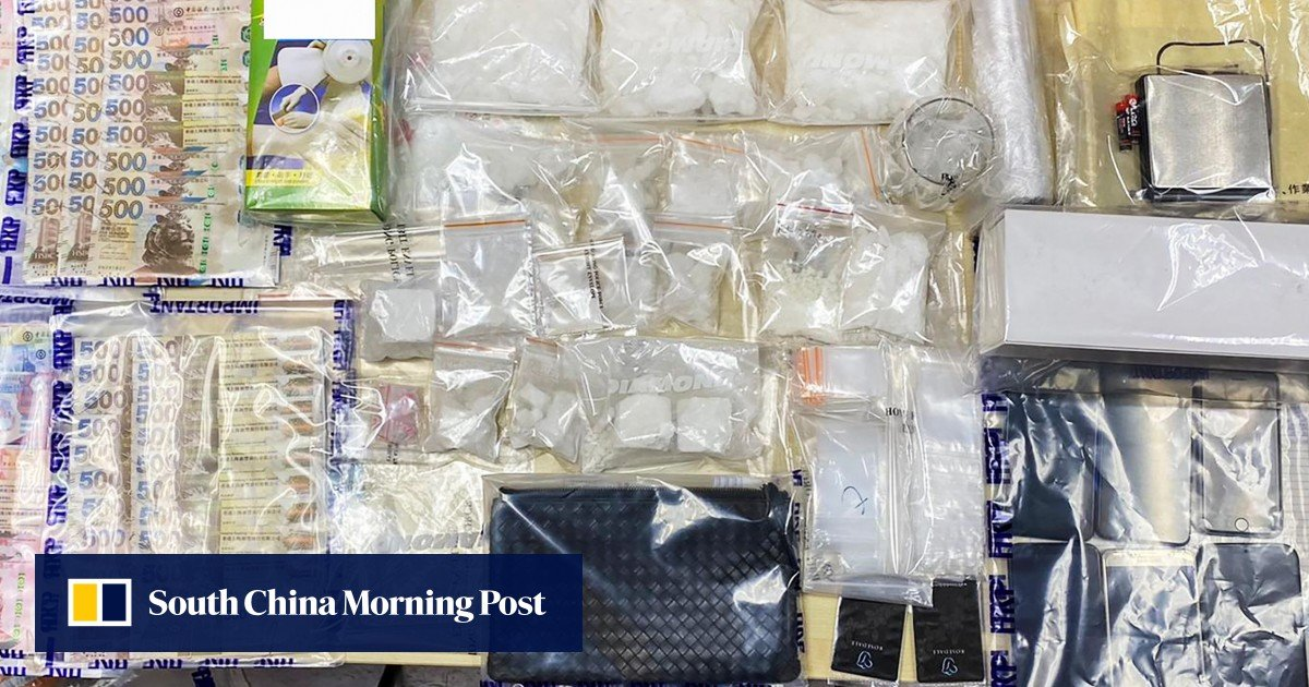 Three suspected narcotics, valued at over HKD 1.1 million, were confiscated when Hong Kong police came across illegal drugs