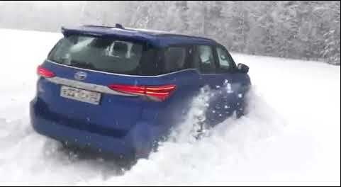 Watch Toyota Fortuner soar through thick snow like a boss