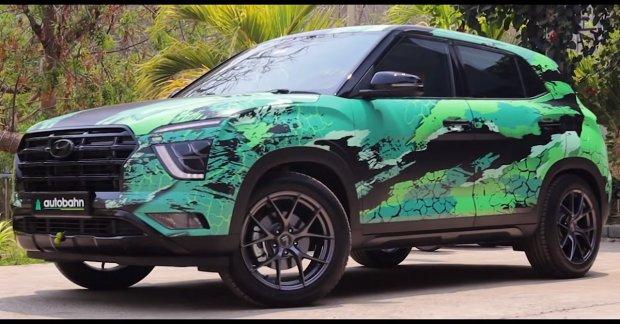 This modified Hyundai Creta belongs to Hulk, it seems – VIDEO.