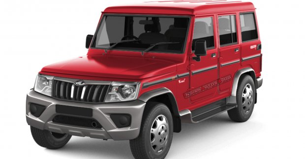 2021 Mahindra Bolero rendered in a new two-tone color scheme