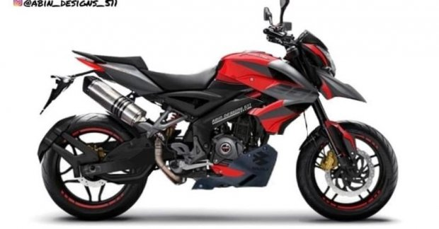 This Bajaj Pulsar NS200 render was inspired by Ducati Hypermotard 950