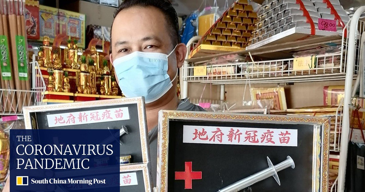 Malaysia shop sells Pro Covid-19 vaccines for the Hungry Ghost Festival