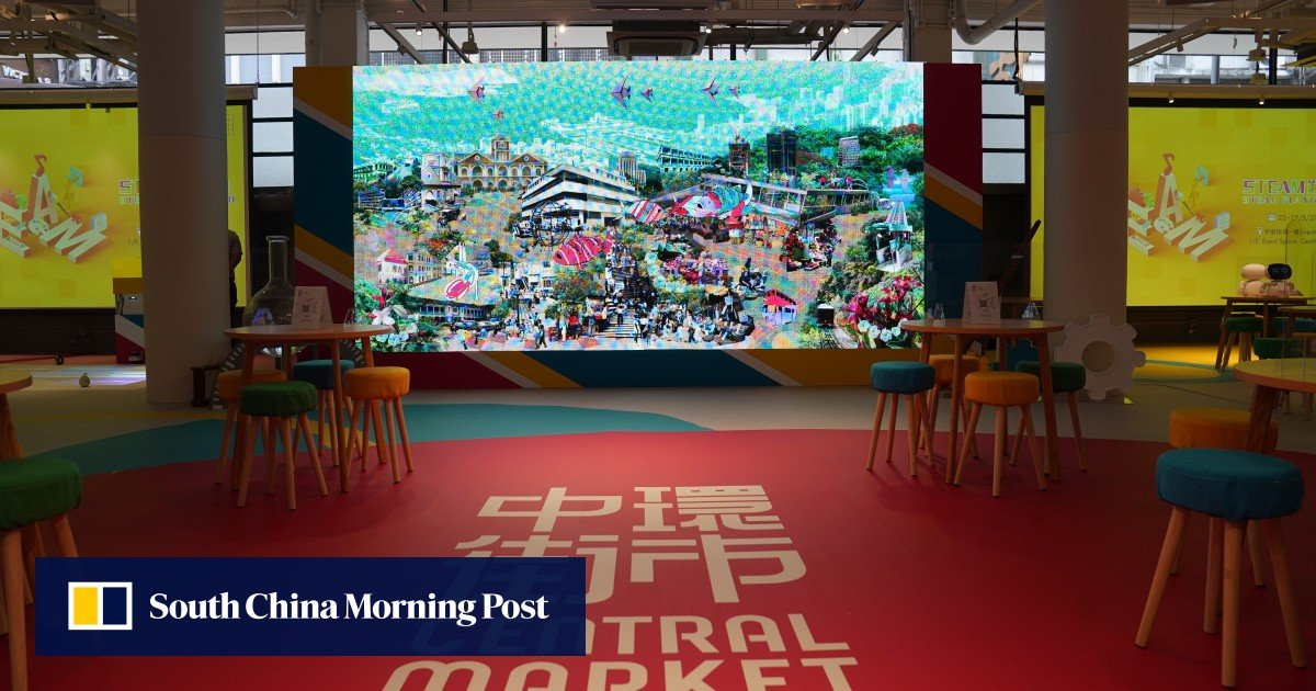 Hong Kong's heritage, exhibited company with historic central market reopening after a HK $ 500 million renovation