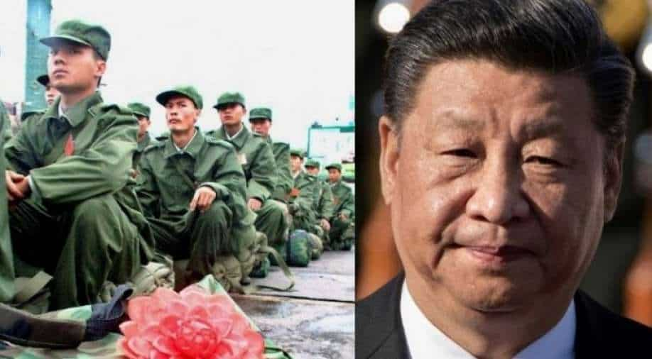 """""""Model battalion"""": Chinese President Xi """"encourages"""" PLA troops on the Indian-Chinese border in Tibet"""