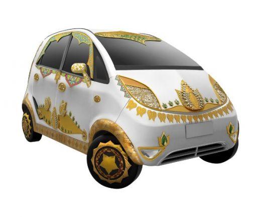 Luxury Tata Nano all in Gold
