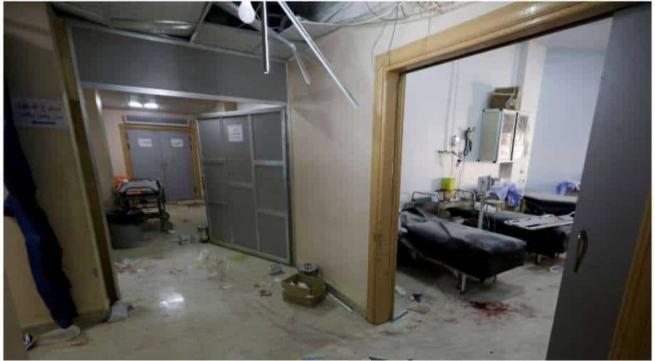 The shelling by the Syrian regime makes the hospital out of order