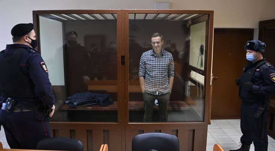 """The Russian prison service says Navalny's health is """"satisfactory""""."""