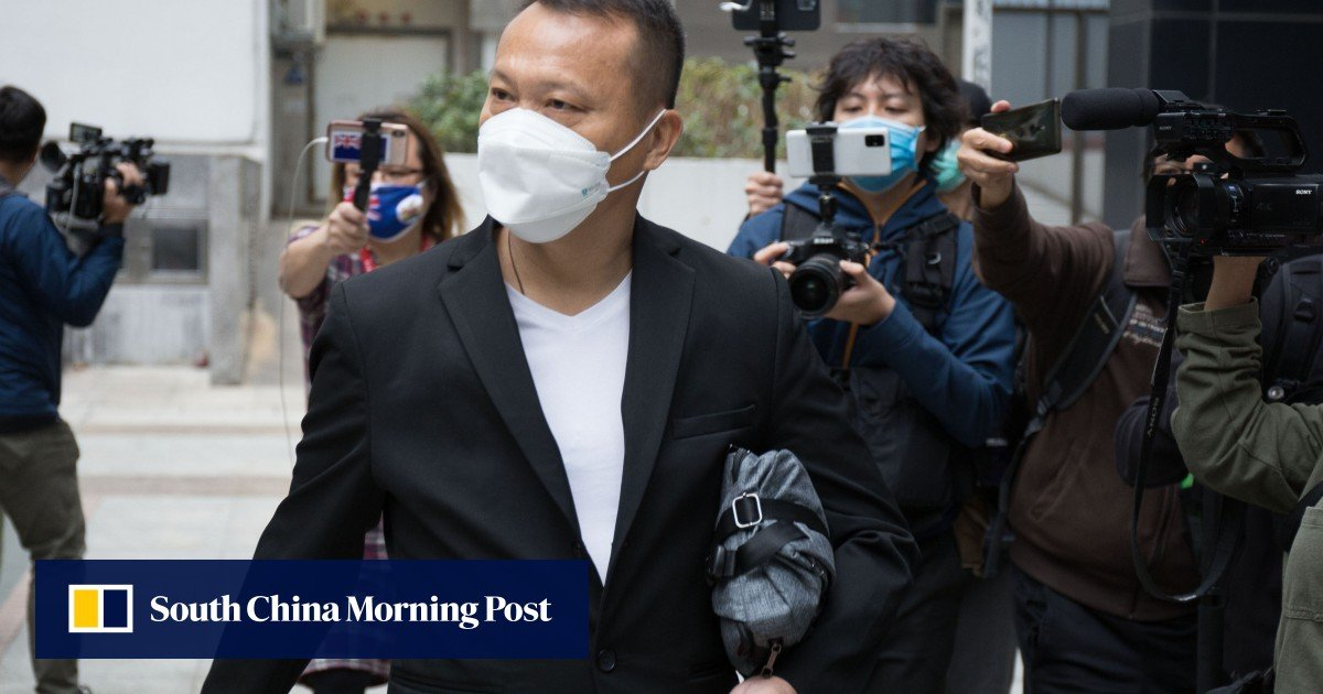 The Hong Kong driver admits he played a role in the violence in Yuen Long in protests, but denies the charges of wounding and rioting