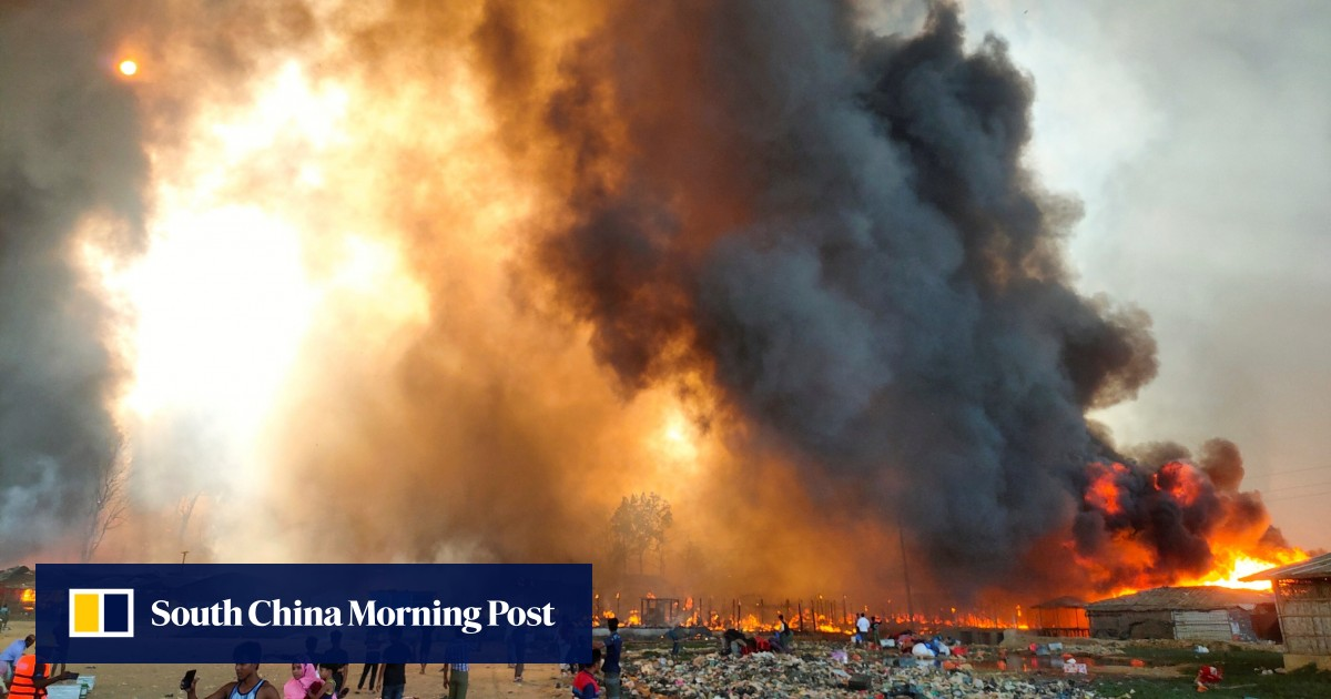 Five feared deaths, thousands are fleeing massive fires in the Rohingya camp in Bangladesh