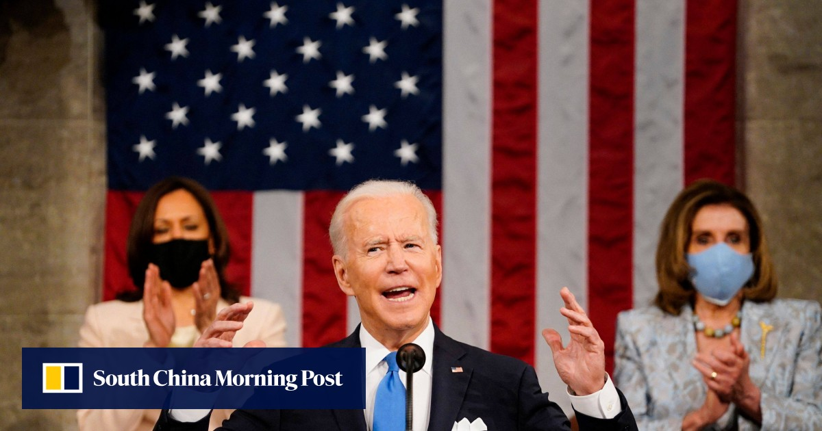 Joe Biden Speech: Women make US history as Nancy Pelosi, Kamala Harris flanked US President for addressing Congress
