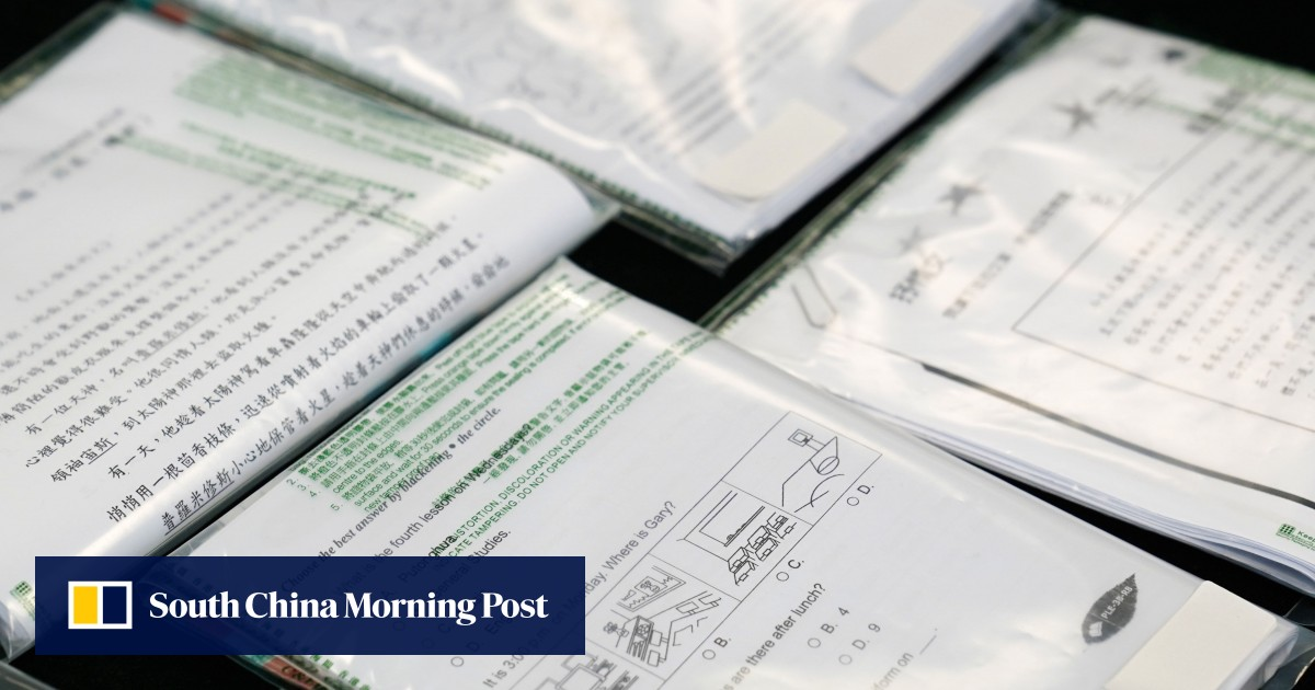 """Two tutors among five Hong Kong residents were arrested for selling suspicious copyrighted teaching materials in the """"largest"""" raid of its kind"""