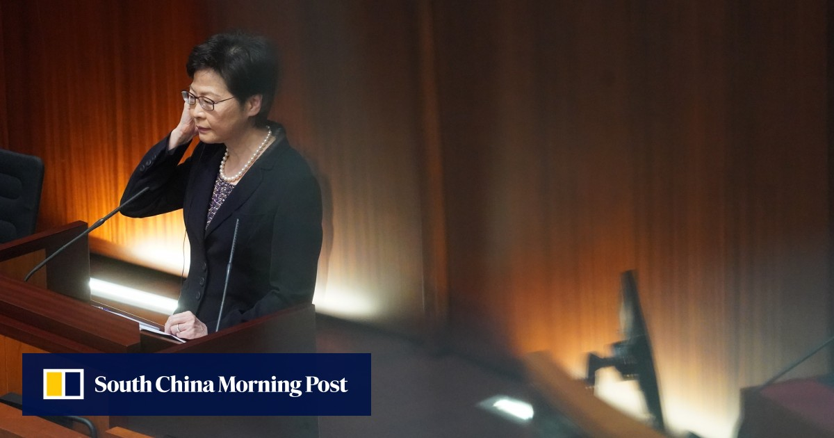 "Hong Kong leader Carrie Lam proposes against Western powers for ""double standards, hypocrisy and lies""."