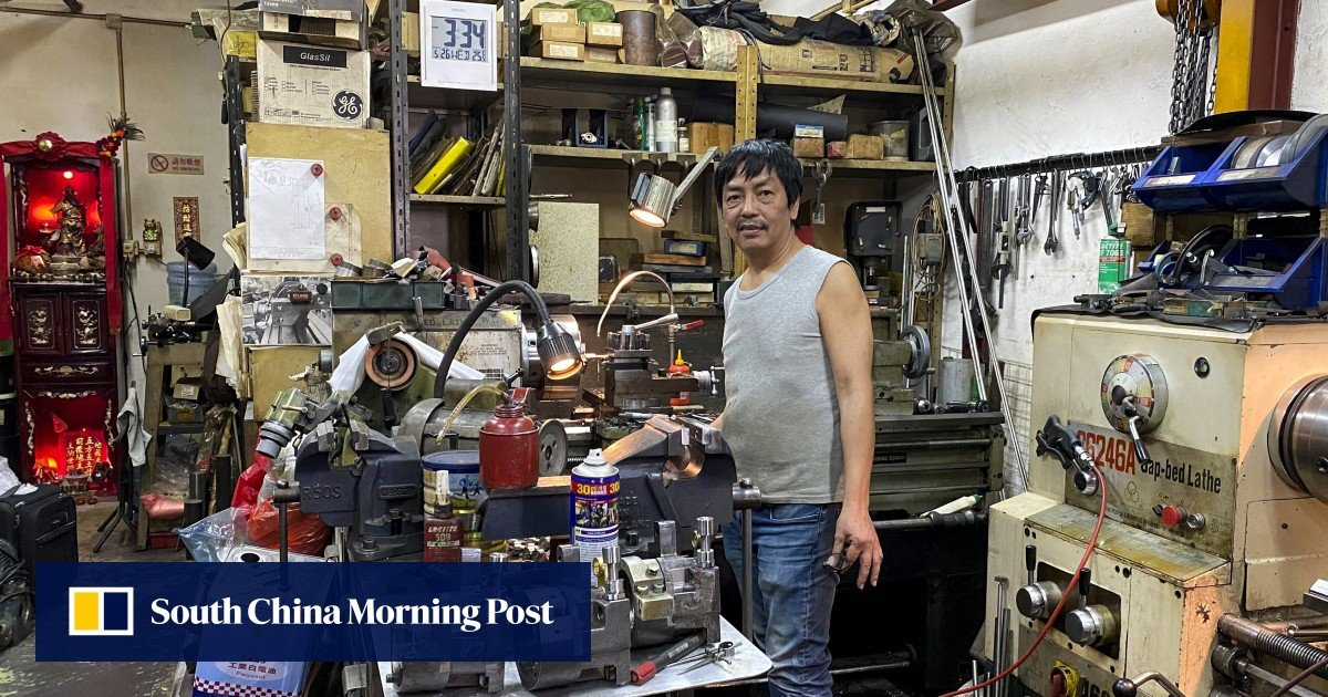 """""""Big headache"""" for workshop owners in Hong Kong in factories that are making way for public housing"""