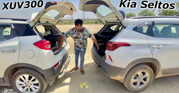 Kia Seltos vs. Mahindra XUV300 Tug of War, Who Wins?  – VIDEO