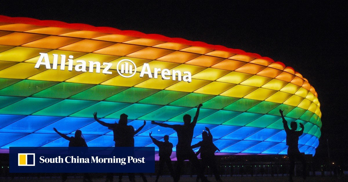 Uefa vetoes light up the Munich stadium in rainbow colors during the Euro 2020 football match