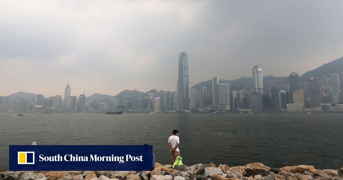 """Air pollution in Hong Kong is reaching """"serious"""" levels as officials advise children, the elderly and people with breathing difficulties to stay indoors"""