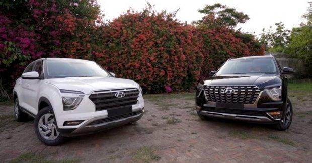 Hyundai Creta VS Hyundai Alcazar comparison video