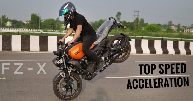 Yamaha FZ-X top speed and acceleration test [Video]
