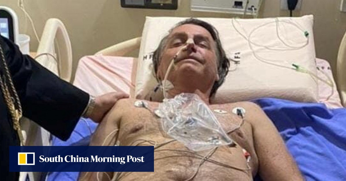 Brazilian President Jair Bolsonaro after 10 days of hiccups in the hospital