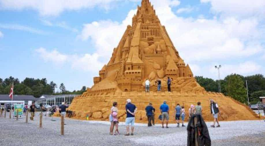 Watch: The tallest sand castle in the world was built in Denmark, inspired by a pandemic