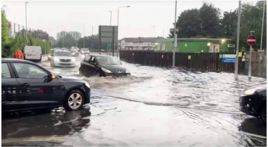 Thunderstorms flood London's streets, tube stations and hospitals