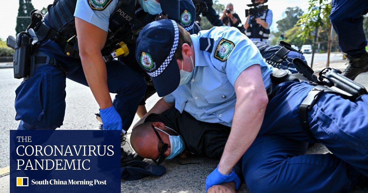 Coronavirus: Australian Police Clashes With Lockdown Demonstrators;  Hundreds arrested