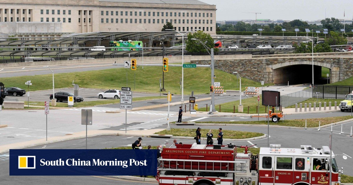 Pentagon locked after gunfire at nearby Metro bus station