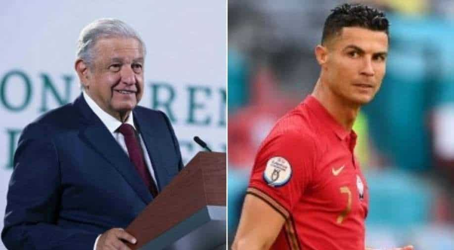 The Mexican President uses the famous Coca-Cola incident;  gives Cristiano Ronaldo's example of fighting obesity – Watch