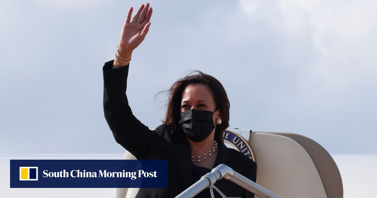 Kamala Harris says the US is not looking for a conflict with Beijing, but will instead express itself in the South China Sea