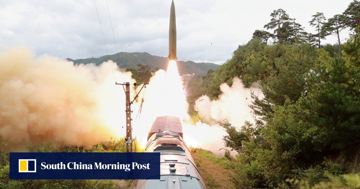 """North Korea's missile launch was a test of a railroad-based system to attack """"threatening forces"""""""