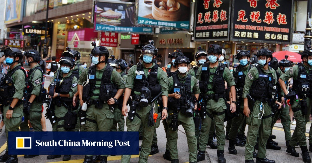 """Hong Kong elections: Police """"dispatch 4,000 officials"""" to ensure smooth Sunday elections, even if only 4,900 voters are expected to cast their votes"""