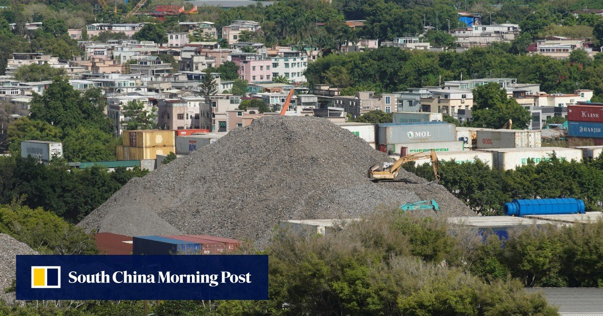 """Green group from Hong Kong finds """"piles of rubbish"""" on fallow land designated for development in the New Territories"""