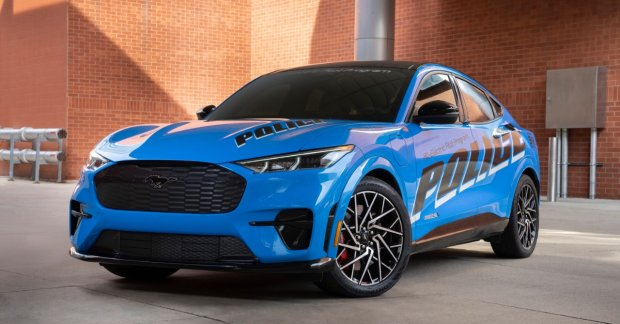 All-electric Ford Mustang Mach-E SUV tested by Michigan State Police