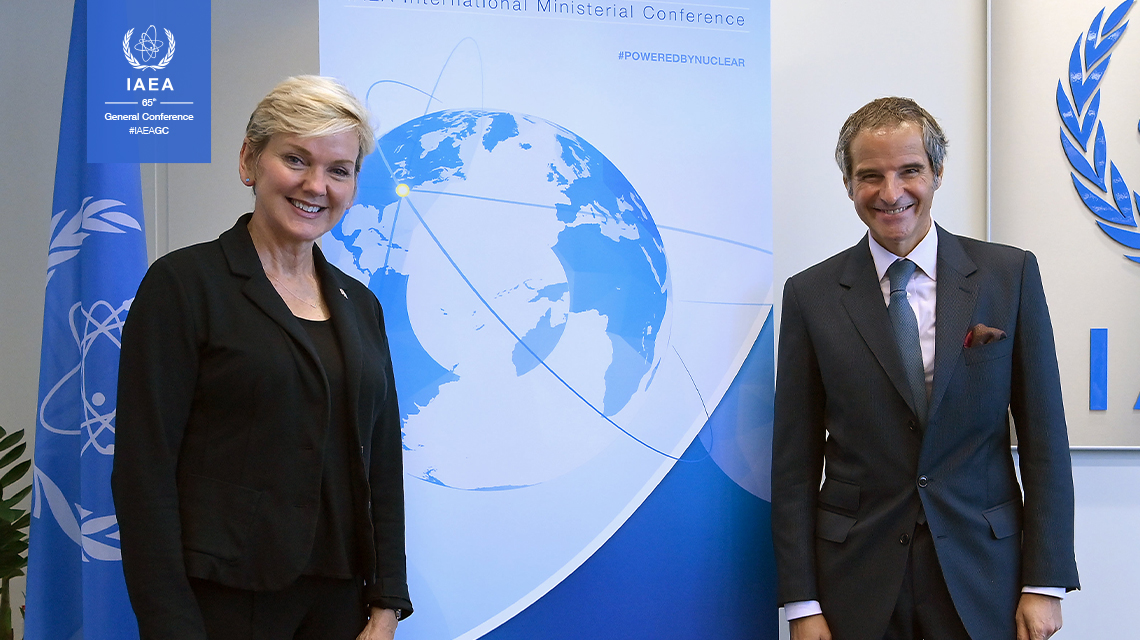 Grossi and Granholm begin preparations for the IAEA's International Ministerial Conference on Nuclear Energy in 2022