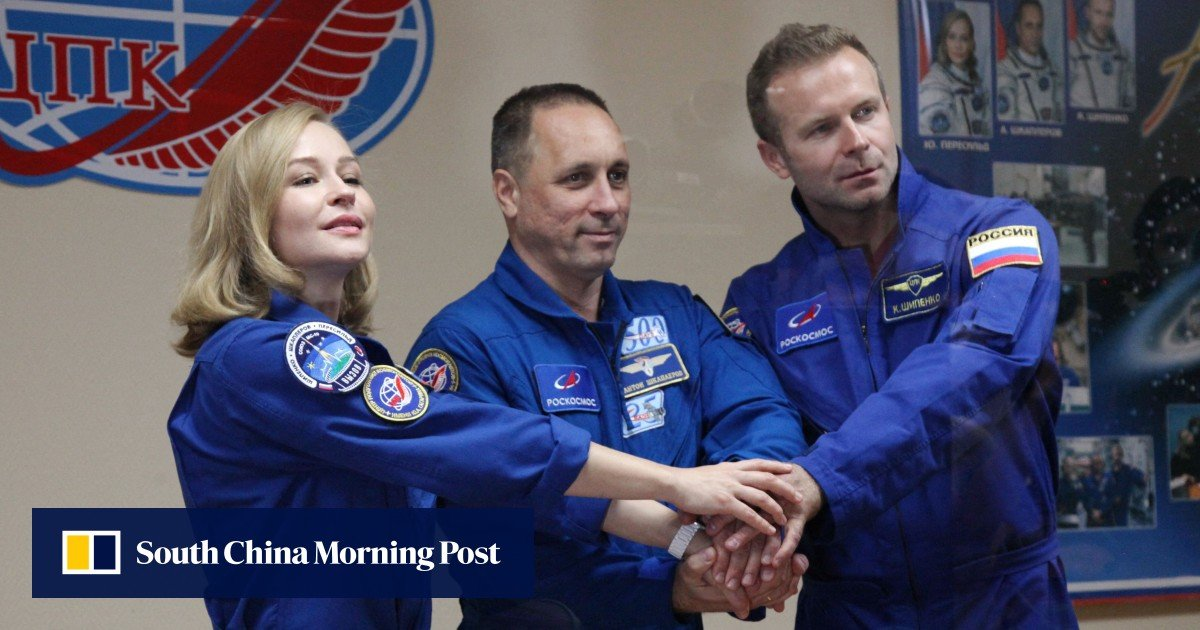 The Russian film crew will take off to shoot the first film in space