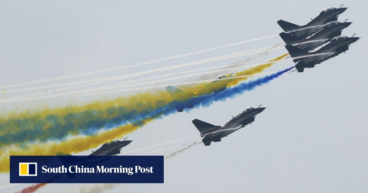 Space age exhibits are among the main attractions of the Zhuhai Air Show