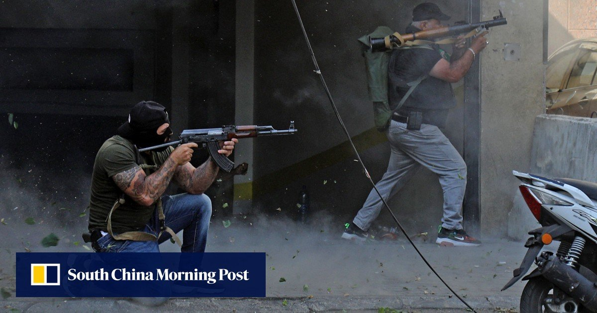 Beirut was shaken by fatal shots as tensions erupted around the explosive probe